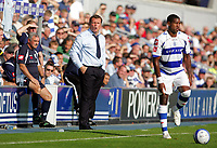 Photo: © Andrew Fosker / Richard Lane Photography - QPR manager Jim Magilton (Centre) with Assistant John Gorman (L) Queens Park Rangers v Barnsley - Coca-Cola Championship - 26/09/09 Loftus Road - London -  UK - All Rights Reserved