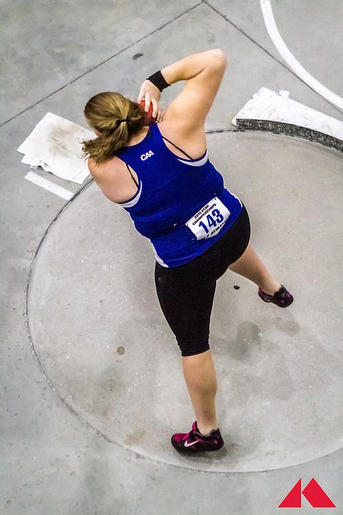 ECAC Indoor Champs, womens shot put, Sarah Hillman, Delaware