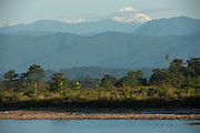 Jai Bhoralli River & Mount Gorichand<br /> Nameri Wildlife Reserve<br /> Assam<br /> North East India