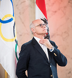 24.01.2018, Hofburg, Wien, Pyeongchang 2018, Vereidigung der Olympia-Mannschaft durch den Bundespräsidenten, im Bild ÖOC-Präsident Karl Stoss // President of the Austrian Austrian Olympic Committee Karl Stoss during the swearing-in of the Austrian National Olympic Committee for Pyeongchang 2018 at Hofburg in Vienna, Austria on 2018/01/24, EXPA Pictures © 2018 PhotoCredit: EXPA/ Michael Gruber