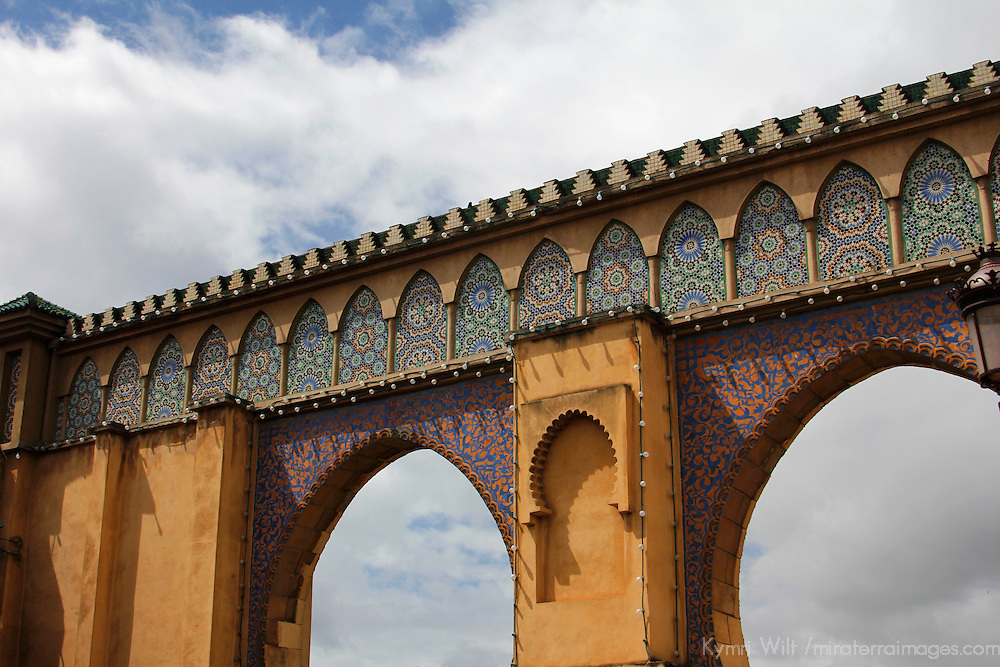 Africa, Morocco, Meknes. Arches of Meknes city wall.