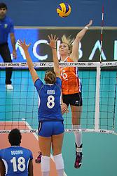 28-09-2017 AZE: CEV European Championship Italie - Nederland, Baku<br /> Nederland wint met 3-0 van Italie en staat in de halve finale / Maret Balkestein-Grothues #6 of Netherlands