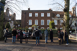© Licensed to London News Pictures. 26/12/2016. Well wishers and media outside the Highgate home of singer GEORGE MICHAEL who died of heart failure at his Oxfordshire home aged 53. London, UK. Photo credit: Ray Tang/LNP