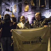 Padre Rosalinde and Jose Jacques from Mexico joined the demonstration against the death penalty by the Coliseum