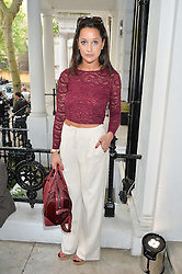 ROXI NAFOUSI at a private view and launch of the new Heist Gallery at 43 Linden Gardens, London W2 on 12th June 2014.