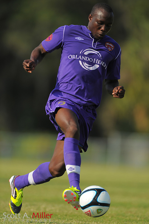 Orlando City U23s forward Moses Aduny (9) in action during Orlando's game against the Ocala Stampede at the Seminole Soccer Complex Saturday on May 26, 2012 in Sanford, Fla. ...©2012 Scott A. Miller..