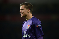 LONDON, ENGLAND - Oct 01: Arsenal's goalkeeper Wojciech Szczesny from Poland during the UEFA Champions League match between Arsenal from England and Napoli from Italy played at The Emirates Stadium, on October 01, 2013 in London, England. (Photo by Mitchell Gunn/ESPA)