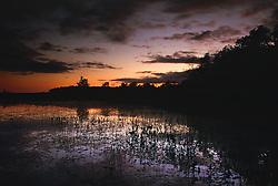 English Lake after sunset.