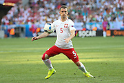Poland Krzysztof Mączynski during the Euro 2016 match between Poland and Northern Ireland at the Stade de Nice, Nice, France on 12 June 2016. Photo by Phil Duncan.