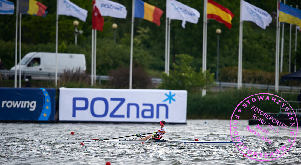 Poznan advertise during second day the 2015 European Rowing Championships on Malta Lake on May 30, 2015 in Poznan, Poland<br /> Poland, Poznan, May 30, 2015<br /> <br /> Picture also available in RAW (NEF) or TIFF format on special request.<br /> <br /> For editorial use only. Any commercial or promotional use requires permission.<br /> <br /> Mandatory credit:<br /> Photo by &copy; Adam Nurkiewicz / Mediasport