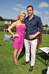 Actress LEE-ANNE SUMMERS and South African Olympic gold medal swimmer RYK NEETHLING at the Audi International Polo Day held at Guards Polo Club, Smith's Lawn, Windsor on 22nd July 2012.