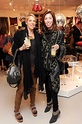 Left to right,TIPHAINE CHAPMAN and RACHEL SINGER-CLARK at the H&M Home Launch held at 174-176 Oxford Street, London W1 on 2nd November 2010.