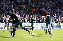 Tom Ince of Huddersfield Town fires a shot at goal  - Mandatory by-line: Matt McNulty/JMP - 26/08/2017 - FOOTBALL - The John Smith's Stadium - Huddersfield, England - Huddersfield Town v Southampton - Premier League