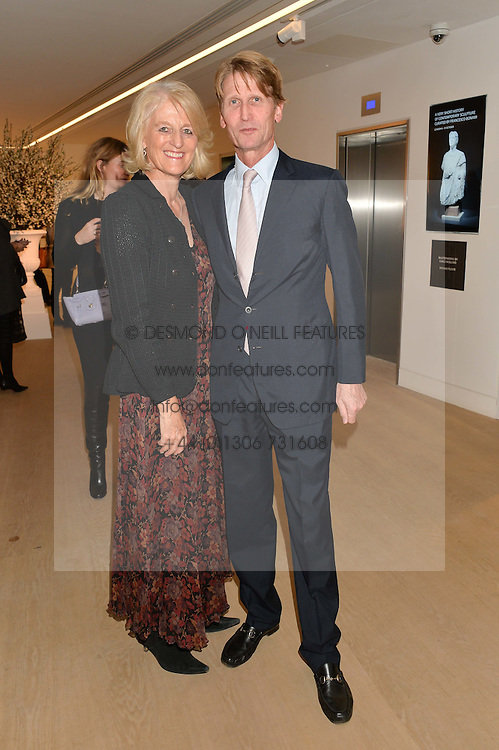 DAVID & LADY ISABELLA NAYLOR-LEYLAND at an evening of Fashion, Art & design hosted by Ralph Lauren and Phillips at the new Phillips Gallery, 50 Berkeley Square, London on 22nd October 2014.