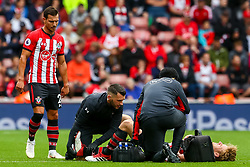 Stuart Armstrong of Southampton receives treatment - Mandatory by-line: Ryan Hiscott/JMP - 12/08/2018 - FOOTBALL - St Mary's Stadium - Southampton, England - Southampton v Burnley - Premier League