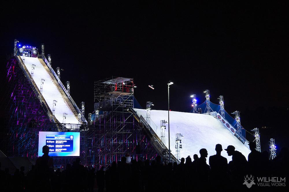 Peetu Piironen - Snowboard Semifinals and Kendrick Lamar at Air & Style LA at the Rose Bowl in Pasadena, CA. ©Brett Wilhelm/ESPN