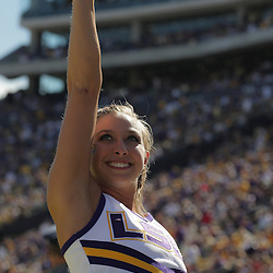 25 October 2008:  A LSU cheerleader performs on the sideline during the Georgia Bulldogs 52-38 victory over the LSU Tigers at Tiger Stadium in Baton Rouge, LA.
