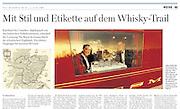 "TEARSHEET: ""Royal Scotsman"", Heimo Aga, Welt am Sonntag (WAMS)."
