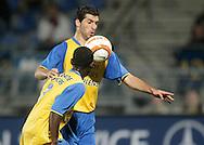 31-10-2007: Voetbal: KNVB Beker RKC Waalwijk - BV Veendam: Waalwijk<br /> Sawwas Exouzidis scoort de 2-0.<br /> Foto: Dennis Spaan