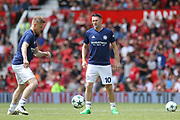 Michael Carrick All-Stars Damien Duff and Michael Carrick All-Stars Robbie Keane in warm up during the Michael Carrick Testimonial Match between Manchester United 2008 XI and Michael Carrick All-Star XI at Old Trafford, Manchester, England on 4 June 2017. Photo by Phil Duncan.