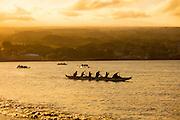 Outrigger canoe, Hilo Bay, The Big Island of Hawaii