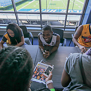 Actor Bobb'E J. Thompson (11) signs autographs prior to The 15th annual Duffy's Hope Celebrity Basketball Game Saturday, August 05, 2017, at The Bob Carpenter Sports Convocation Center, in Newark, DEL.   <br />