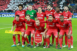 October 18, 2017 - Moscow, Russia - October 17, 2017. Russia, Moscow, Otkritie Arena Stadium. Spartak's players team photo in the 2017/18 UEFA Champions League's group stage match between Spartak (Moscow, Russia) and Sevilla FC  (Credit Image: © Russian Look via ZUMA Wire)
