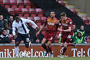 Millwall FC midfielder Fred Onyedinma (10)  during the Sky Bet League 1 match between Bradford City and Millwall at the Coral Windows Stadium, Bradford, England on 26 March 2016. Photo by Simon Davies.