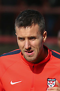 York City midfielder, on loan from Oxford United, Michael Collins during the Sky Bet League 2 match between York City and Cambridge United at Bootham Crescent, York, England on 3 October 2015. Photo by Simon Davies.