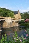Werrabrücke Creuzburg (1223), Liboriuskapelle, Creuzburg an der Werra, Thüringen, Deutschland   Werra Bridge Creuzburg, Liborius chapel, Creuzburg on Werra, Thuringia, Germany
