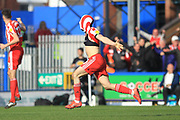 GOAL George Honeyman turns home the winner for Sunderland 1-2  during the EFL Sky Bet League 1 match between Rochdale and Sunderland at Spotland, Rochdale, England on 6 April 2019.