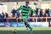 Forest Green Rovers Dayle Grubb(8) during the EFL Sky Bet League 2 match between Morecambe and Forest Green Rovers at the Globe Arena, Morecambe, England on 17 February 2018. Picture by Shane Healey.