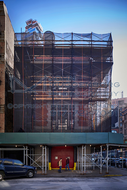 The NewYork Fire Department's Hook and Ladder #8 Firehouse at 12 N. Moore St. (AKA the Ghostbuster's Firehouse).Renovation design by CDR Studio Architects. Photography by John Muggenborg.