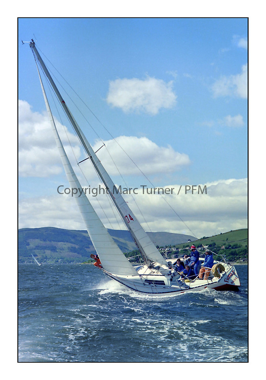 Fiona V off Gourock, June 1977<br /> <br /> <br /> Picture Copyright  PFM Pictures