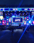 Apr 24, 2019; Nashville, TN, USA; General overall view of the 2019 NFL Draft stage on Broadway Street.