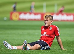 CARDIFF, WALES - Friday, June 3, 2016: Wales' George Williams during a training session at the Vale Resort Hotel ahead of the International Friendly match against Sweden. (Pic by David Rawcliffe/Propaganda)