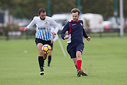 Dundee Saturday Morning Football at Riverside, Dundee: Monifieth Hurricanes (dark blue) v FC Boukir (white and light blue)<br /> <br />  - Picture by David Young