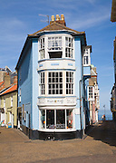 Historic building and alley leading to the sea, Cromer, Norfolk, England