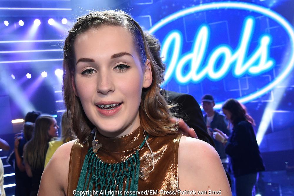 Finale Idols 2016 in de studio van Endemol.<br /> <br /> Op de foto: Nina den Hartog wint Idols 2016