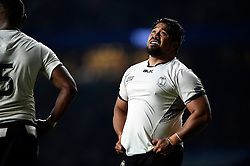 Campese Ma'afu of Fiji watches the replay on the big screen - Mandatory byline: Patrick Khachfe/JMP - 07966 386802 - 18/09/2015 - RUGBY UNION - Twickenham Stadium - London, England - England v Fiji - Rugby World Cup 2015 Pool A.