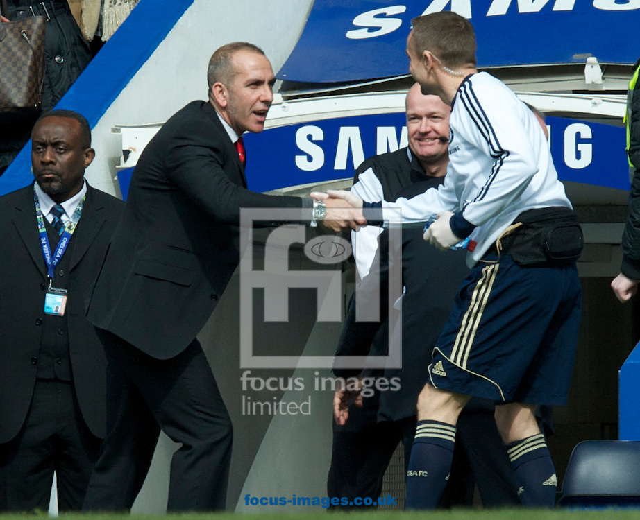 Picture by Alan Stanford/Focus Images Ltd +44 7915 056117.07/04/2013.Manager Paolo Di Canio of Sunderland during the Barclays Premier League match at Stamford Bridge, London.