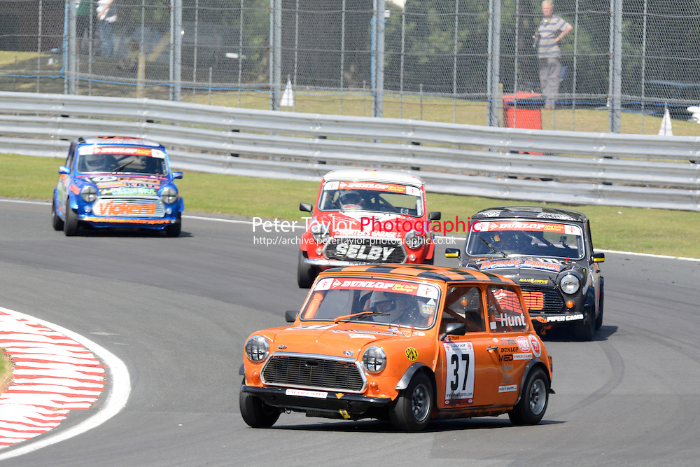 #37 Gareth Hunt Mini 7 during Mini Se7en - Race 1  as part of the Mini Festival  at Oulton Park, Little Budworth, Cheshire, United Kingdom. August 08 2015. World Copyright Peter Taylor. Copy of publication required for printed pictures.  Every used picture is fee-liable. http://archive.petertaylor-photographic.co.uk