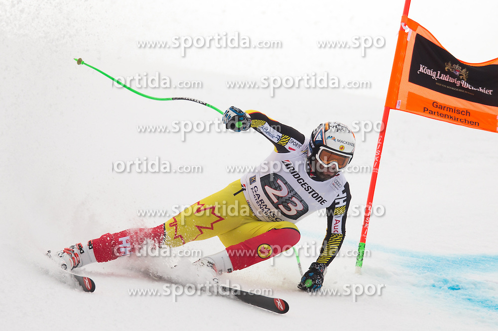 28.01.2016, Kandahar, Garmisch Partenkirchen, GER, FIS Weltcup Ski Alpin, Abfahrt, Herren, 1. Training, im Bild Manuel Osborne-Paradis (CAN) // Manuel Osborne-Paradis of Canada competes in his 1st training run for the men's Downhill of Garmisch FIS Ski Alpine World Cup at the Kandahar course in Garmisch Partenkirchen, Germany on 2016/01/28. EXPA Pictures © 2016, PhotoCredit: EXPA/ Johann Groder