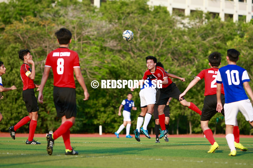 Meridian Junior College, Tuesday, April 12, 2016 - Justin Kang (#4) and Royston Tan (#10) scored twice each before half-time as Meridian Junior College (MJC) tore Hwa Chong Institution (HCI) apart 5-0.