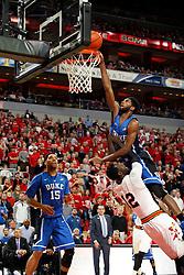 Duke forward Amile Jefferson. <br /> <br /> The University of Louisville hosted Duke University, Saturday, Jan. 17, 2015 at The Yum Center in Louisville. <br /> <br /> Duke won the game 63-52.