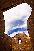 Pueblo Bonito, an Ancestral Puebloan site at Chaco Culture National Historical Park in New Mexico.