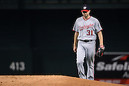 PHOENIX, AZ - AUGUST 03:  Max Scherzer #31 of the Washington Nationals takes the mound in the first inning of the game against the Arizona Diamondbacks at Chase Field on August 3, 2016 in Phoenix, Arizona. The Nationals beat the Diamondbacks 8 to 3.  (Photo by Jennifer Stewart/Getty Images)