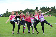 Women fight dirty at Race for Life Pretty Muddy in Hammersmith on Wednesday 13 July for Cancer Research UK