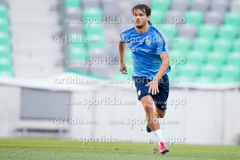 Rene Krhin during practice session of Slovenian National Football Team before Euro 2016 Qualifications match against Switzerland, on September 1, 2015 in SRC Stozice, Ljubljana, Slovenia. Photo by Urban Urbanc / Sportida