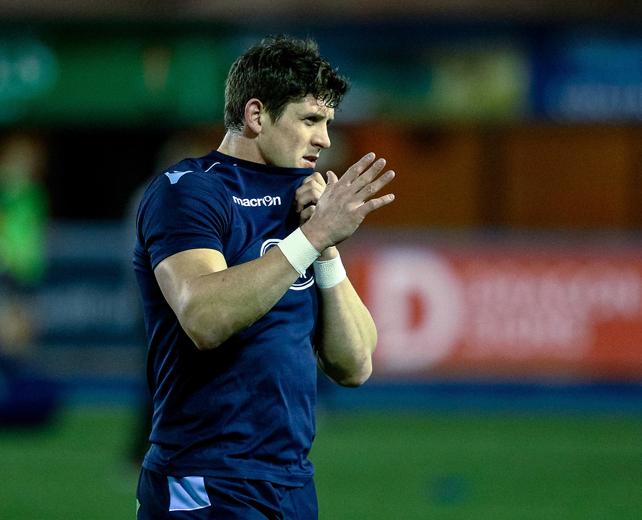 Lloyd Williams of Cardiff Blues during the pre match warm up<br /> <br /> Photographer Simon King/Replay Images<br /> <br /> Guinness PRO14 Round 15 - Cardiff Blues v Glasgow Warriors - Saturday 16th February 2019 - Cardiff Arms Park - Cardiff<br /> <br /> World Copyright © Replay Images . All rights reserved. info@replayimages.co.uk - http://replayimages.co.uk